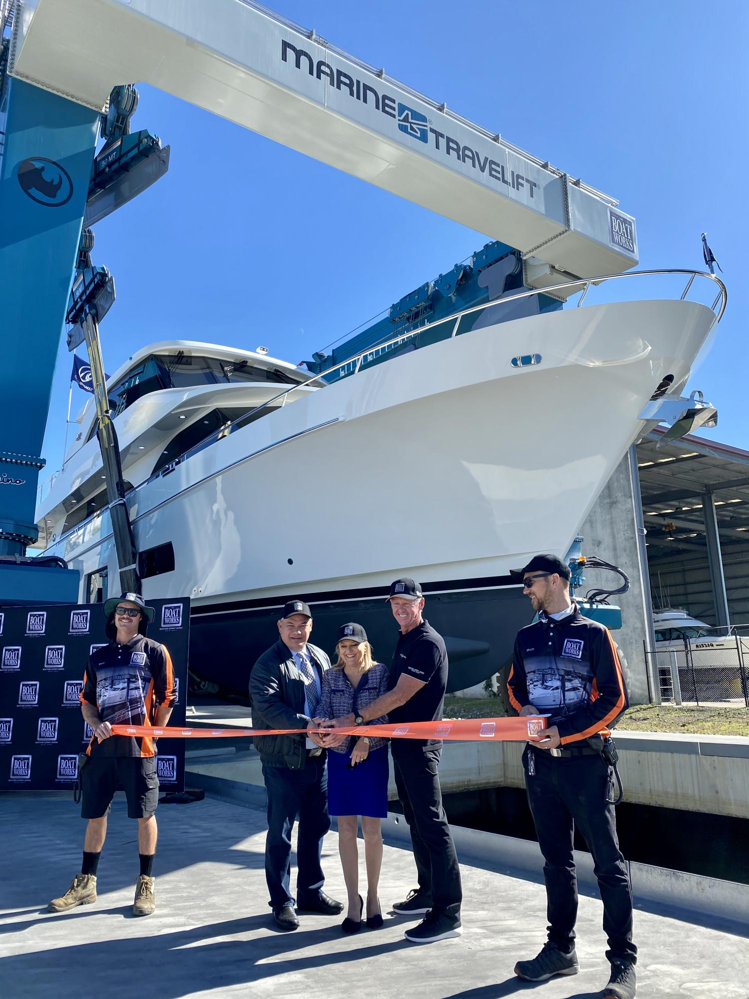 Image 1 for Mayor Cuts The Ribbon On World-Class Superyacht Yard